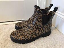 Womens Ankle Tretorn Rain Boots Leopard Cheetah Print New Size 10 Rubber