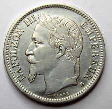 1 Franc - Napoléon III - 1868 BB - Strasbourg -