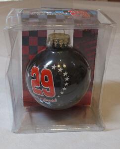 NASCAR Kevin Harvick #29 2004 Glass Ball Christmas Tree Ornament Holiday NOS