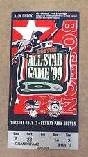 BASEBALL ALL STAR TICKET - 1999 - BOSTON FENWAY PARK
