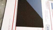 "Real Carbon Fiber Fiberglass Panel Sheet 12""×18""×3/32"" Glossy One Side"