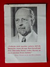 altes BRD Flugblatt der EINHEITSFRONT Walter Ulbricht in Rostock 1970 ( 8085