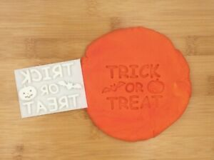 Halloween TRICK OR TREAT  Cookie Fondant Stamp Kids Cake Biscuit Embosser