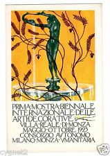 POSTCARD ITALIAN 1923 MONZA DECORATIVE ARTS SHOW BIENNIAL