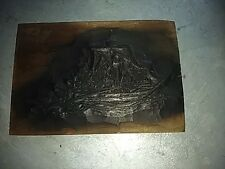 Japan antique Hand Carved wood picture printing template