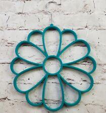 Green Velvet Flower Scarf Scarves Shawl Belt Holder Hanger Closet Organizer NWOT