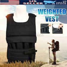 Workout Adjustable Weighted Vest Exercise Weight Sport Fitness Training Jacket