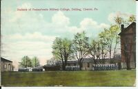 Chester Pennsylvania Military College Drilling 1910 Postcard Townsend Delaware