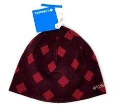 Columbia Urbanization Mix Beanie Maroon Red Hat NWT Geometric Diamond O/S Unisex