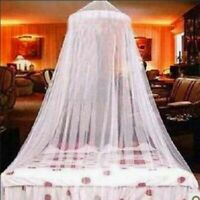 Bed Mosquito Netting Mesh Elegant Princess Lace Canopy Round Dome Bedding Net