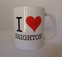 I Love Mug Cup Gift Present Red Heart Personalised For Free - Any Town Name Text