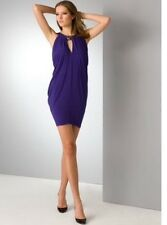 new RRP $250 BCBG MAX AZRIA PURPLE DRAPE DRESS L / 12