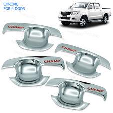 2005 - 2014 Door Handle Bowl Insert Cover Chrome FITT 4Pc On Toyota Hilux Vigo