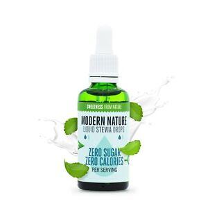 Modern Nature Liquid Stevia Sweetener 50ml - PURE STEVIA DROPS NATURAL SWEETENER