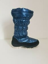 Mercury size 6 blue mid calf winter snow boots size 39 fleece lined New
