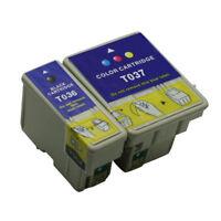 2x Ink Cartridges T036 T037 Compatible For Stylus C42UX C44UX C46 Inkjet Printer