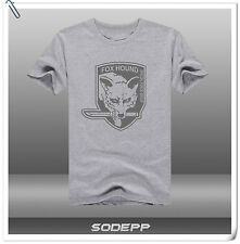 PS3 PS4 Metal Gear Solid V short sleeves cotton T-shirt Grey