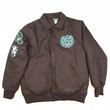 STALL AND DEAN BROWN ATHLETIC CLUB JACKET SIZE XL S&D