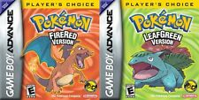 POKEMON GAMES LEAFGREEN, FIRERED GBA GAMEBOY ADVANCE DS UK SELLER 1ST CLASS