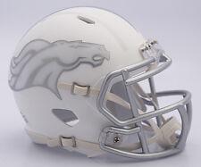 NFL American Football DENVER BRONCOS - ICE ALTERNATE Riddell MINI SPEED HELMET
