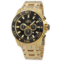 Invicta Men's Pro Diver 26076 Gold Stainless-Steel Quartz Diving Watch