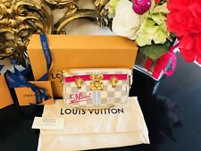 MIAMI Louis Vuitton Summer Trunks Damier Azur Clutch Pouch Pochette Bag Capri