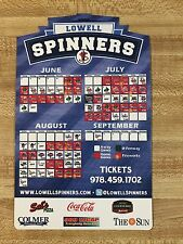 2014 Lowell Spinners Baseball Magnetic Schedule