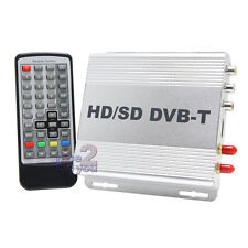 In Car DVB-T HDMI Digital TV Tuner Freeview Receiver Box 2 Antenna H.264 MPEG4