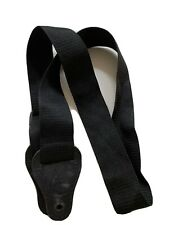 Guitar Strap, Black Leather and Nylon