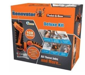 TWIST-A-SAW DELUXE KIT THE RENOVATOR HAMMER DRILL JIGSAW ROUTER CUT TOOL UK