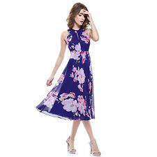 Women's Floral Sleeveless Flare Halter Neck Special Occasion Dress Size 10 (US)