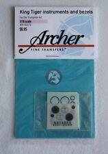 Archer 1/16 King Tiger (Tiger II) Tank Instruments & Bezels (Trumpeter) AR16015