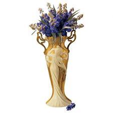 19th Cen Antique Replica Graceful Maiden Art Nouveau Sculpture Centerpiece Vase