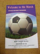 27/01/2011 Kent FA U18 v Amateur Alliance FA U18 [At Corinthian] . Thanks for vi