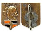 Insigne 46°Régiment d'infanterie. Email, Arthus Bertrand +pastille AB. France