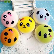 1pc Panda Squishy Charms Soft Buns Key Chain Cell Phone Soft Bread Cute Straps