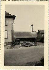 PHOTO ANCIENNE - VINTAGE SNAPSHOT - NID DE CIGOGNE Vers Ste Odile ALSACE 1950
