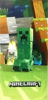 Minecraft Mobs Emerge Beach Towel measures 28 x 58 inches