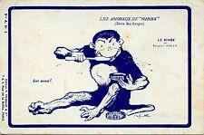 POSTCARD / CARTE POSTALE FANTAISIE HUMOUR / LES ANIMAUX DE GIBBS LE SINGE