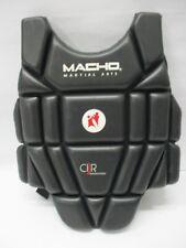 Macho Karate Chest Guard Body Protector Taekwondo Martial Arts - Black - Yth XS