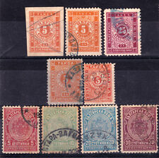 Bulgaria- Lot early Postage due stamps,canceled.Mi.-66 Eu