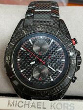 Jetmaster Black Carbon Fiber Chronograph Dial Men's Watch MK8455