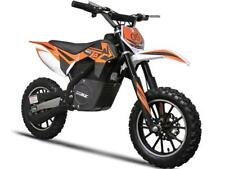 MotoTec Orange Electric Dirt Bike 24v 500w 16 MPH Front and Rear Disc Brakes
