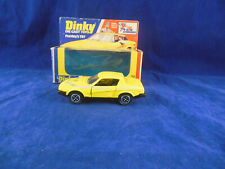 """Dinky toys 112 Pudey's TR7 in Yellow """"The new Avengers"""" Made in England VN Mint"""