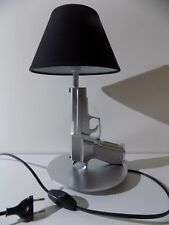 LAMPE DESIGN SIG SAUER CHROME(chevet bureau table pistolet police arme revolver)