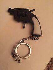 Vintage Miniature Trueno Redondo Revolver Pistol Key Chain Watch FOB