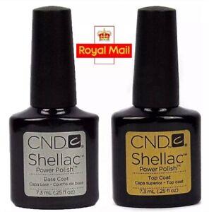 CND Shellac Base & Top Coat Power Polish BOXES INCLUDED 7.3ml Gel UV LED Nail