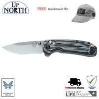 BENCHMADE HUNT 15031-1 North Fork Folding Knife G10 Handle FREE HAT