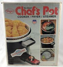 Vintage Dazey 6 Qt Chef's Pot Deep Fryer Slow Cooker Model Dcp-6 Steamer Nos