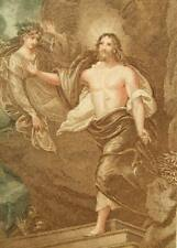 Stipple engraving 'Resurrection' Samuel Freeman Bartolozzi pupil 1835